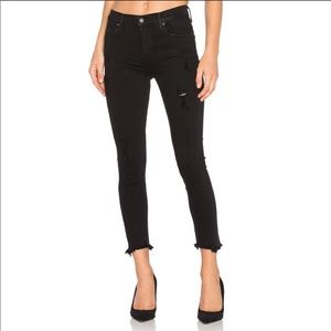 AGOLDE Sophie High Rise Cropped Black Jeans